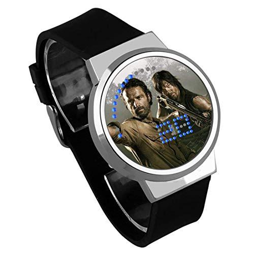 Armbanduhren,DIY Kreative Touchscreen LED Uhr Film Er Walking Dead Wasserdicht Leuchtende Elektronische Uhr Geschenk Anpassung