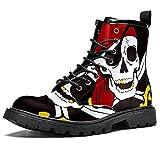 Men's Combat Boot,Pirate Skull