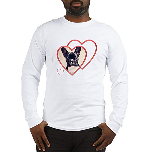 CafePress Valentine39;S French Bulldog Long Sleeve T Shirt Unisex Cotton Long Sleeve T-Shirt White
