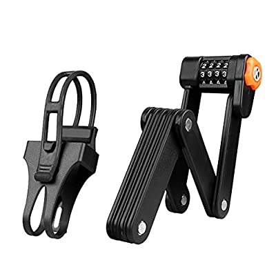 BRZYEAI Anti-Theft Folding Bike Lock with 4 Password, Heavy Duty Bicycle Lock Security Combination Chain Lock with 8 High Security Hardened Metal