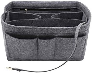 Felt Insert Fabric Purse Organizer Bag Bag Insert In Bag with Zipper Inner Pocket Fits Neverfull product image