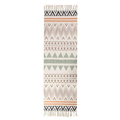 SDFJKOEthnic Carpet Kitchen Mats For Floor Long Strip Geometric Carpets Bedroom Rug Cotton Oriental Decor Tapestry,6,60x150cm