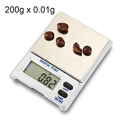 CHERUISI M-18 200g X 0.01g hohe Genauigkeit digitale elektronische Waage Schmuck Balancegerät mit 1,5-Zoll-LCD-Bildschirm