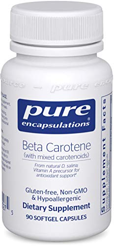 Pure Encapsulations - Beta Carotene (with Mixed Carotenoids) - Hypoallergenic Antioxidant and Vitamin A Precursor Supplement - 90 Softgel Capsules