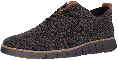Cole Haan mens Zerogrand Stitchlite Oxford, Black/Magnet/Black, 11.5 US