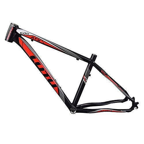 Zhengowen OS Fahrradrahmen Aluminiumlegierung Rahmen Mountainbike Weiß Schwarz 26 Zoll Ultra Light Frame Kohlefaser-Rahmen (Farbe : Schwarz, Größe : Einheitsgröße)