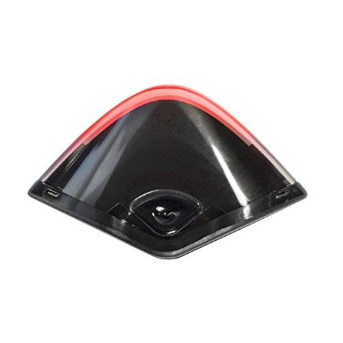 fizik Sattel Lumo Rear USB wiederaufladbar ICS Licht mit Sattelstütze Mount & White Flash, grau