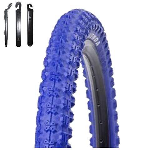 Kenda K-51 - Cubiertas para bicicleta BMX (20 x 2,25-58-406, incluye 3 desmontadores), color azul