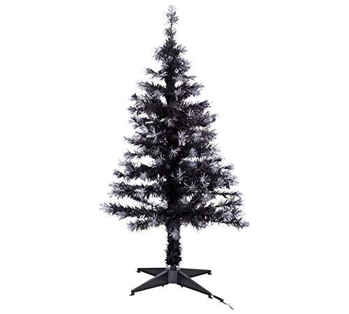Home 4ft Fibre Optic Christmas Tree - Black