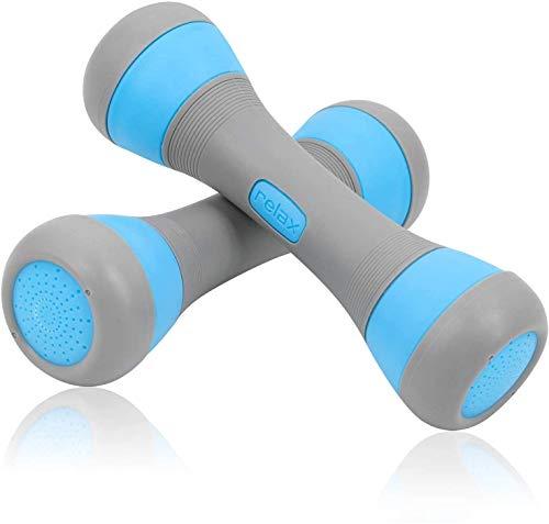 Jolitac Verstellbares Kurzhantel-Set für Damen, 2 x 1 kg, 1,5 kg, 2 kg Gewichtsoptionen, Hanteln mit rutschfester Hand, Allzweck-Übungshanteln für Zuhause, Büro, Fitnessstudio (blau)