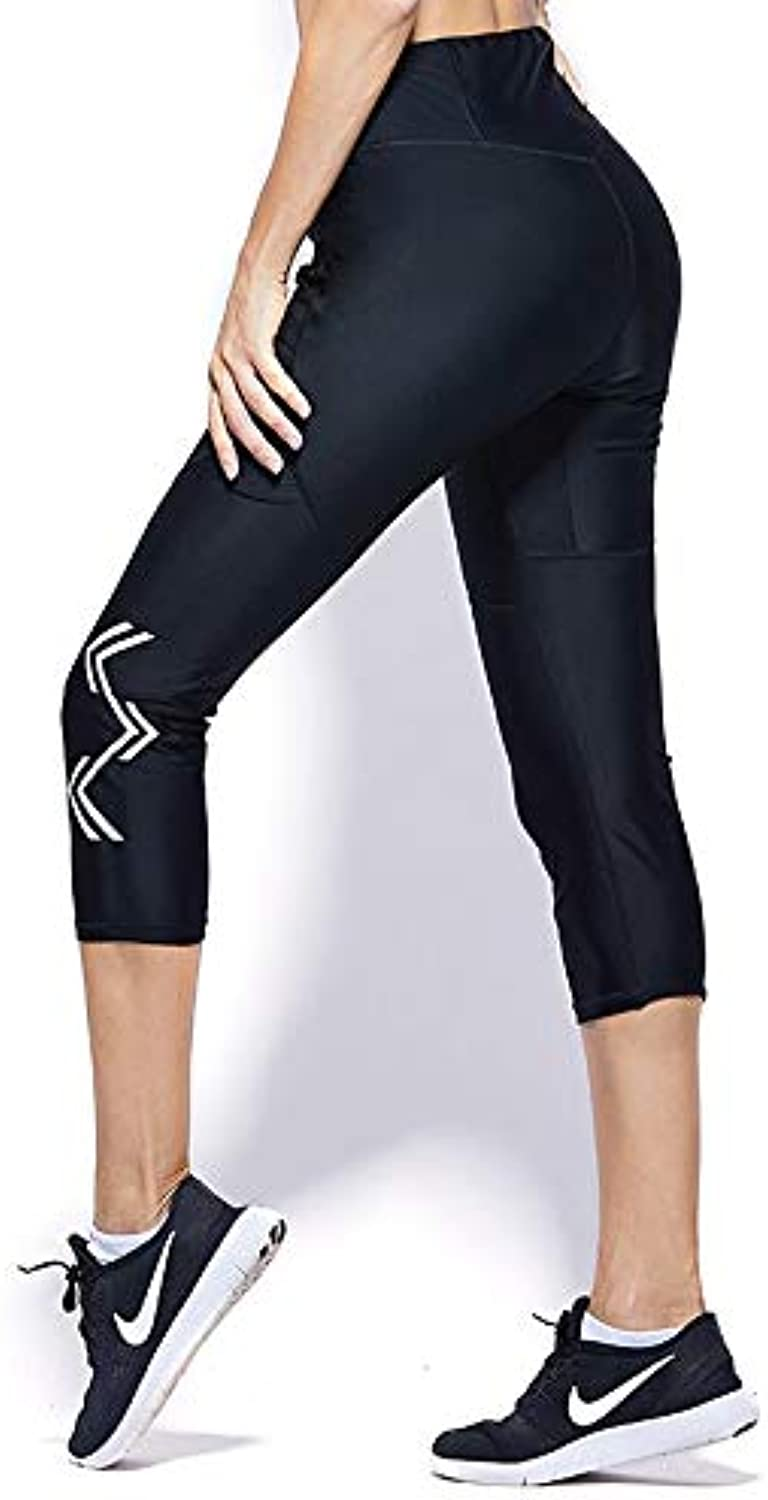 New Explosion Sweat Pants Women Running Fitness Pants high Waist Tights Sports Sweat Pants Cropped Trousers (color   Black, Size   XL)
