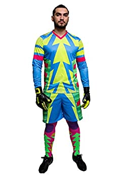 Brody Jorge Campos Blue Goalkeeper Set Jersey and Shorts  Youth Small