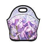 Bolsa de almuerzo portátil de color violeta y sal marina para la...