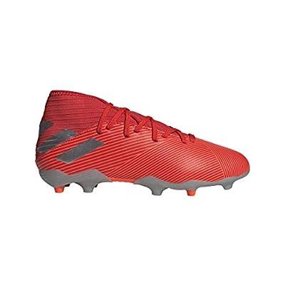 adidas Unisex-Kid's Nemeziz 19.3 Firm Ground Soccer Shoe, Active Red/Silver Metallic/Solar Red, 4.5 M US Big Kid