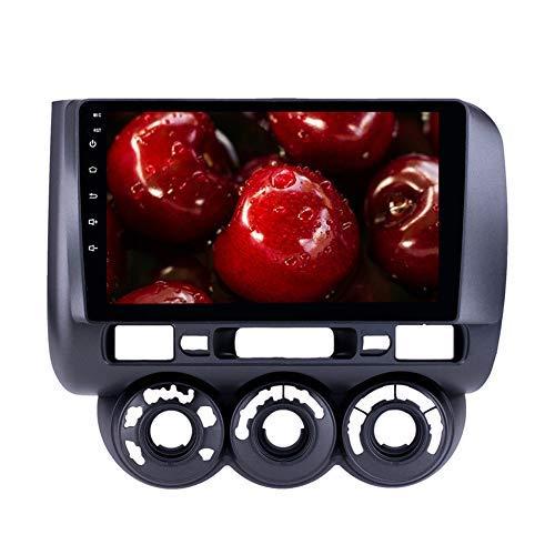 Autoradio MP5 Multimedia Player Quad Core Android 9.0 Sistema GPS Bluetooth per Honda Jazz Manuale AC 2002-2008