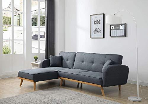 Viking - Ecksofa universell mit bettfunktion - 4-Sitzer - Skandinavisch Stil