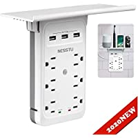 Nesstu Multi Electrical Wall Outlet with 3 USB (3.4A) Charging Ports
