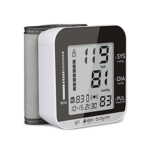 Monitor de presión arterial de brazo superior digital de manga grande (monitor BP), pantalla retroiluminada de hipertensión de 3 colores y medidor de pulso-FDA borrado para OTC, indicador IHB, 2 usuar