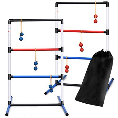 DREAMADE 2er Set Leitergolf-Set mit 6 Doppelkugeln, Wurfspiel mit Score Tracker, Leitergolf Spiel mit...