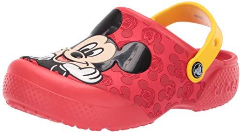 Crocs Unisex-Kinder Fun Lab Mickey Ol CLG K Freizeit Flip Flops Sportwear, Multicolor (Flamme), 34 EU