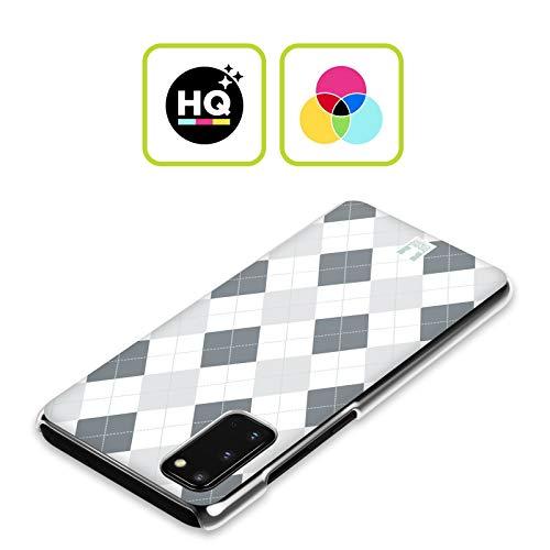 Head Case Designs Schwarz Und Weiss Argyle Muster Harte Rueckseiten Handyhülle Hülle Huelle kompatibel mit Samsung Galaxy Note20 / 5G