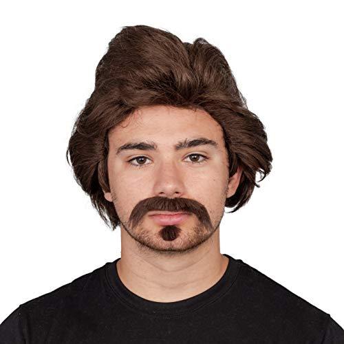 Halloween Costume Accessory Dark Hair Mustache and Goatee Brown