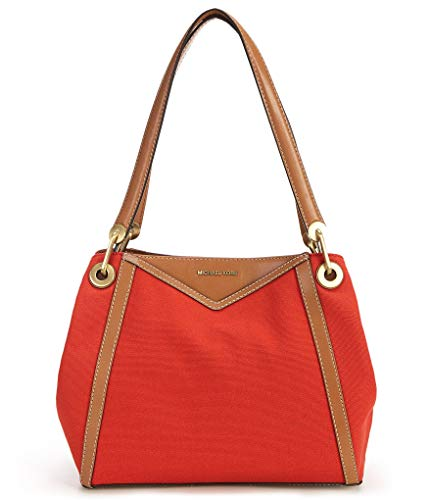 MICHAEL Michael Kors - Bolso de hombro con bolsillo grande para mujer, color rojo