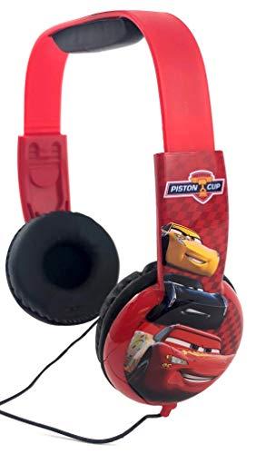 Disney Pixar Cars Lightning McQueen Kid Safe Headphones Volume Limiting