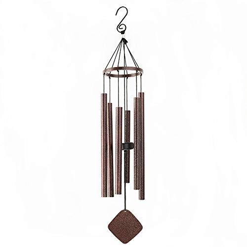 """BLESSEDLAND carillons éoliens-6 Tubes Creux en Aluminium, 28"""" Wind Chime Garden cuivre Vein 4Wx28.5H Pouces"""