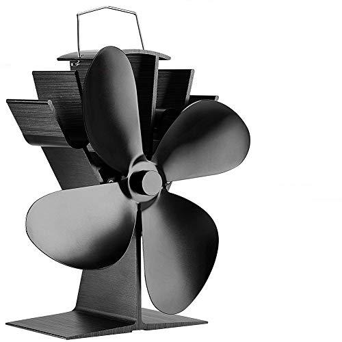 Lovejoy Store Stromloser Kamin Ventilator, Stromloser Startseite 4-Flügel-Gebläse mit Wärmebetrieb und Kaminofen. Gebläse mit Holzfeuerung für hängenden Kamin