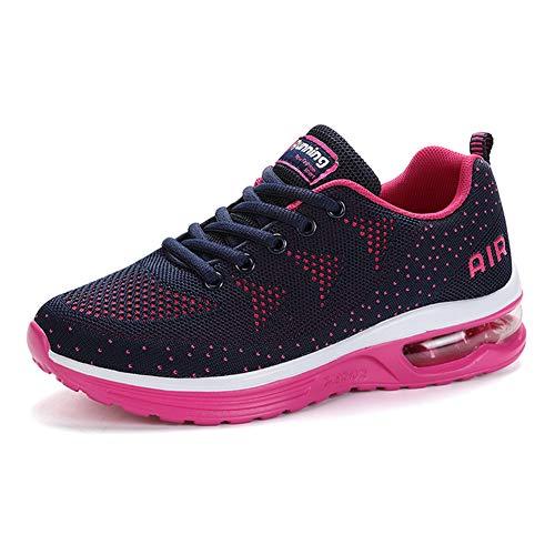 Męskie i damskie buty sportowe do trenerów amortyzujących wstrząsy powietrzne, trampki do chodzenia na świeżym powietrzu, buty do biegania, buty do wspinaczki, wsuwane i oddychające Bluered 42