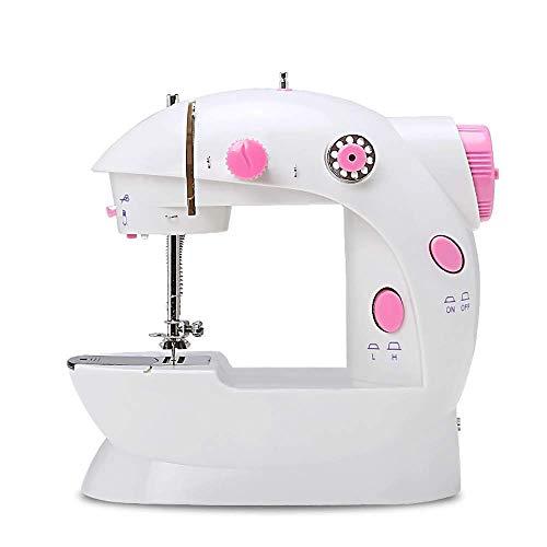 AIWKR Draagbare naaimachine, 2-versnellingen, huishoudmini-handnaaimachine met ledverlichting, voor beginners en volwassenen, voor thuis en op reis, snelle naaimachine