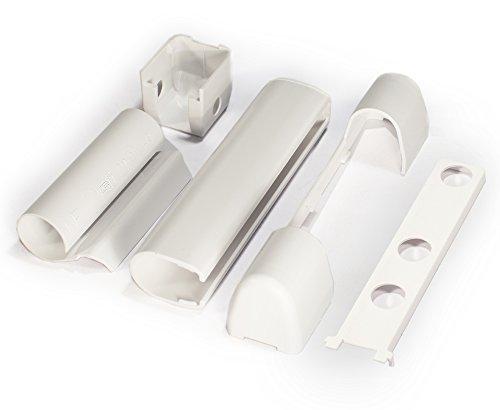 PVC-Fenster und PVC-Kunststofftür Abdeckkappen-Set EB, EL O, EL U, S, W KF, WEISS von Siegenia