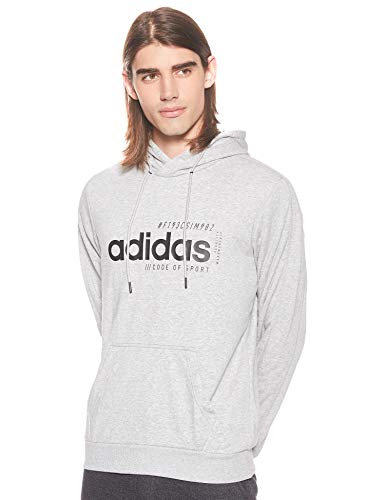 adidas Brilliant Basics M Hoodie EI4621 Sudadera, Mgreyh, L para Hombre