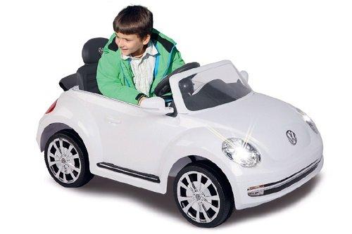 Volkswagen Beetle enfants voiture électrique Ride On; blanc; 27MHz 6V–kuk460220