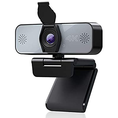 WELCAM 4K Webcam Steaming PC with Microphone Fu...