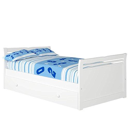 Cama Nido Alas (Colchón 105 x 200, Blanco)