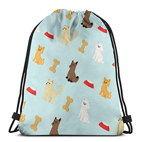 Nonebrand - Bolsa de viaje con cordón para hombre y mujer, diseño de cachorros y gatitos