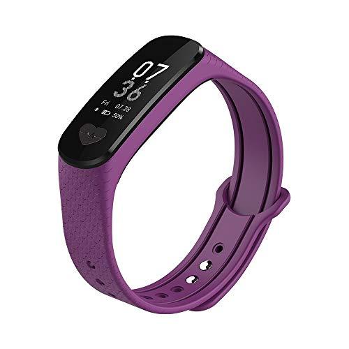 AFITNESS Activity Tracker-hartslag-bloeddrukmeter, ECG-sporthorloge, waterdichte stappenteller voor mannen en vrouwen, gezonde hartslagmeting, geschikt voor Apple Android smartphones