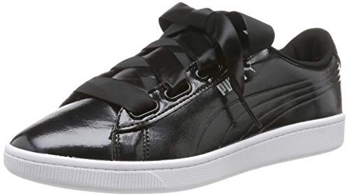 Puma Damen Vikky v2 Ribbon P Sneaker, Schwarz (Puma Black-Puma Silver 1), 39 EU