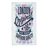 COFEIYISI Toallas de Manos Londres Retro Tipografía Vintage Toalla Facial Toalla de baño pequeña Microfibra Suaves y Absorebentes Esencial para Viajar a casa 40x70cm