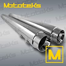 HARLEY TOURING BAGGER SLIP ON MEGAPHONE MUFFLERS EXHAUST PIPES FITS 2017 ABOVE CHROME SET