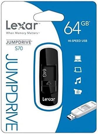 Lexar JumpDrive S70 64 GB USB Flash Drive LJDS70-64GASBNA - Black