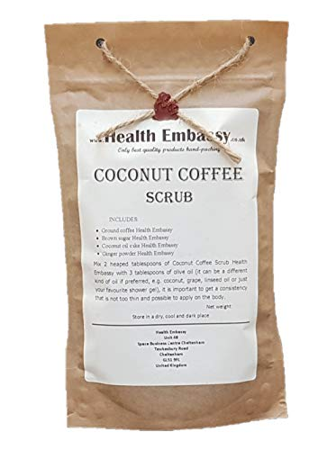Health Embassy Gommage de Café avec Gingembre / Coconut Coffee Scrub with Ginger (peeling, body scrub), 150g