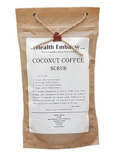 Exfoliante de Coco - Café con Jengibre 150g / Coconut Coffee Scrub 150g with Ginger - Health Embassy - 100% Natural (peeling, body scrub)