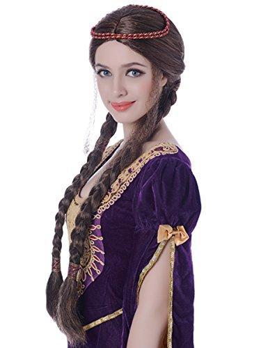 Peluca medieval mujer - Única
