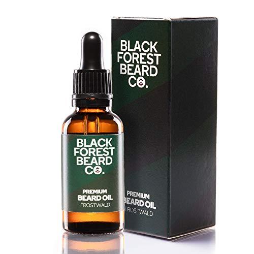 30ml Blackforest Beard Co. Premium Bart-Öl FROSTWALD | Fichtennadel & Minze Duft | Handgemacht im Schwarzwald | Bart-Pflege mit Provitamin B5 | 100% Natürliche Öle