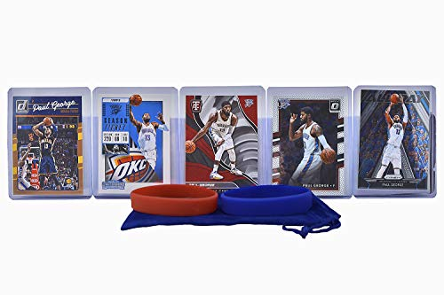 Paul George (5) Assorted Basketball Cards Bundle - Los Angeles Clippers Indiana Pacers OKC Thunder Trading Cards - # 13