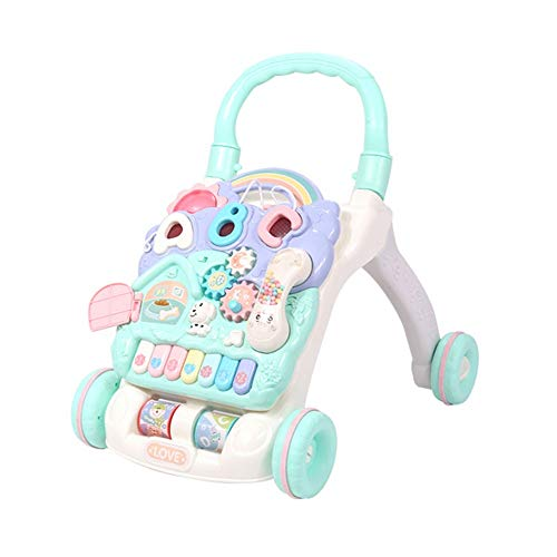Find Bargain HANXIAODONG Baby Push Walker Girl&Boy Walker Toy Infant Music Activity Center Drives Ba...