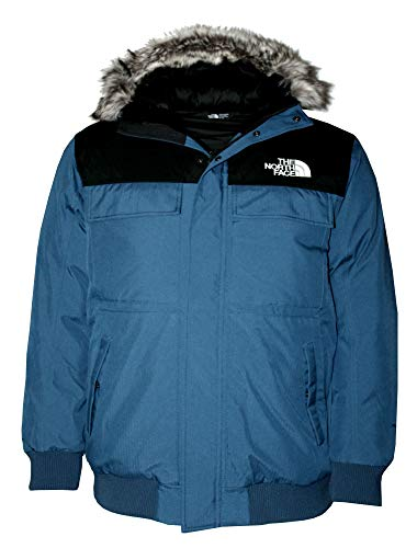 Price comparison product image The North Face Men's Gotham Coat Short Hooded Down Jacket (Blue Wing Teal / TNF Black,  XL)